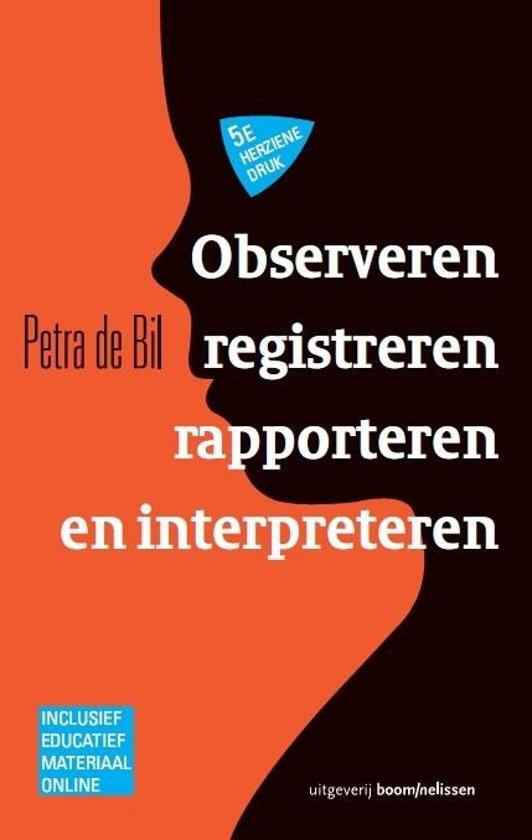 Observeren registreren rapporteren en interpreteren