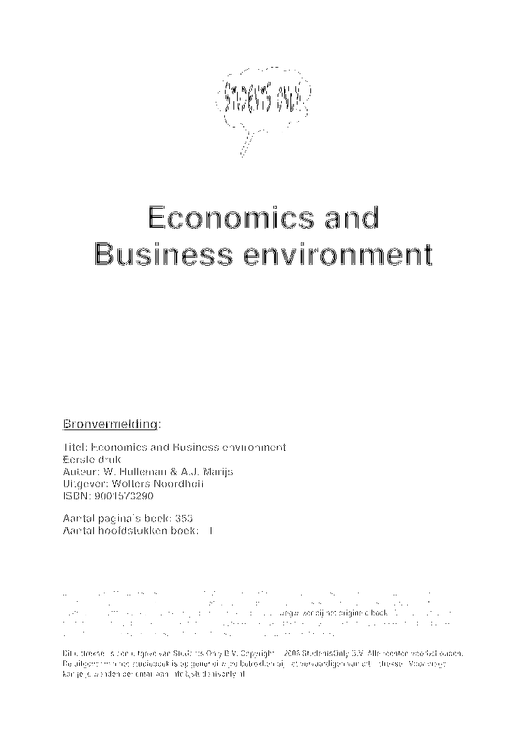 economics and business environment The impact of economic incentives on environmental  to a predecessor of epa's national center for environmental economics (ncee)  business owners, employees.