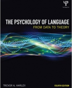 Harley, Summary The Psychology of Language, Ch 1 to 4
