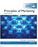Principles of Marketing - Hoofdstuk 2 t/m 5, 7, 10 & 18