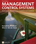 Summary of Management Control Systems (K. A. Merchant, W. A. Van der Stede)