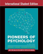 Geschiedenis van de psychologie H2 t/m 16 (Pioneers of psychology 5th edition)
