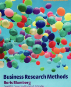 Extensive Summary Business Research Methods