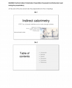 BGZ2025 Presentation Practical Indirect Calorimetry Powerpoint and preparations for the meetings